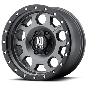 XD Series by KMC XD126 Enduro Pro 6 Matte Gray w/ Black Ring