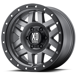 XD Series by KMC XD128 Machete 6 Matte Gray w/ Black Ring