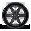 6 LUG ALTAIR - M192 SUV SATIN BLACK/GLOSS BLACK