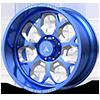 8 LUG AB110 BLUE & MILLED