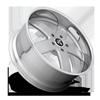 5 LUG BALLER - X84 SILVER W/ GLOSS CLEAR