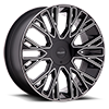 5 LUG 923 RAUCOUS GLOSS BLACK WITH MIRROR MACHINED ACCENTS