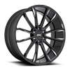 6 LUG CLOUT - S252 GLOSS BLACK & MILLED