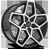 5 LUG CLV-25 GLOSS BLACK MACHINED