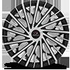 5 LUG CLV-30 GLOSS BLACK MACHINED