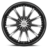 5 LUG CLV-35 GLOSS BLACK MACHINED