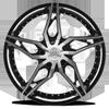 5 LUG CLV-38 GLOSS BLACK MACHINED
