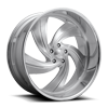 5 LUG CYCLONE 5 - PRECISION SERIES BRUSHED W/ GLOSS CLEAR