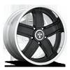 5 LUG DREADZ - X62 GLOSS BLACK W/ CHROME LIP