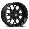 8 LUG DS645 GLOSS BLACK WITH MIRROR MACHINED FACE