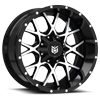 6 LUG DS645 SATIN BLACK WITH CNC MILLED LIP ACCENTS