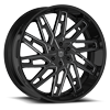 6 LUG DS656 GLOSS BLACK W/ CNC MILLED ACCENTS