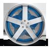 5 LUG BALLER - X84 BRUSHED FACE W/ BLUE WINDOWS. CHRONE LIP
