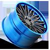 5 LUG CAVAT - XB40 BRUSHED DOUBLE DARK TINT | HI POLISH PICA-BLUE