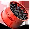 5 LUG CAVAT - XB40 MATTE BLACK | HI POLISH CANDY RED