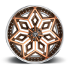 5 LUG CHRON - X87 BRUSHED W/ LOUIS V TINT AND CHROME LIP