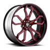 5 LUG SHOCK BURGUNDY AND BLACK LIP