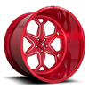 5 LUG FF99 SOFT CANDY RED & MILLED
