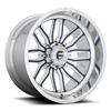 8 LUG FFC66 | CONCAVE 8 LUG POLISHED W/ FORD BLUE JEAN METALLIC FACE