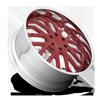 5 LUG FORKED - X125 GLOSS RED W/ POLISHED LIP