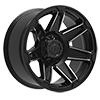 6 LUG 745 TRIDENT GLOSS BLACK WITH MIRROR MACHINED SPOKE ACCENTS
