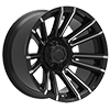 6 LUG 747 SLED SATIN BLACK WITH MIRROR MACHINED SPOKE ACCENTS