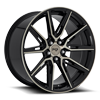 5 LUG GEMELLO - M219 20X10.5 | GLOSS BLACK & MACHINED DDT
