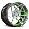 5 LUG GAME ON - X80 GLOSS GREEN W/ MILLED FACE AND GLOSS ANTHRACITE LIP