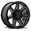 8 LUG 745 TRIDENT GLOSS BLACK WITH MIRROR MACHINED SPOKE ACCENTS