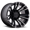 8 LUG 747 SLED SATIN BLACK WITH MIRROR MACHINED SPOKE ACCENTS