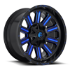 6 LUG HARDLINE - D646 GLOSS BLACK W/ CANDY BLUE