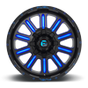 5 LUG HARDLINE - D646 GLOSS BLACK W/ CANDY BLUE