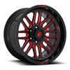 5 LUG IGNITE - D663 GLOSS BLACK W/ CANDY RED