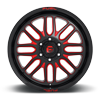 8 LUG IGNITE - D663 GLOSS BLACK W/ CANDY RED