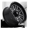 6 LUG IGNITE - D662 GLOSS BLACK & MILLED