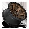 6 LUG KICKER 6 - D699 17X9 ET-12 | BRONZE CENTER W/ BLACK LIP