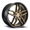 5 LUG METHOS - M195 20X9 BRONZE W/ GLOSS BLACK LIP