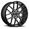 6 LUG 422 MIDNIGHT GLOSS BLACK WITH MACHINED FACE AND DARK TINT