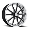 5 LUG RAMBLER - U117 20X8 GLOSS BLACK & MILLED W/ DIAMOND CUT LIP