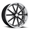 5 LUG RAMBLER - U117 GLOSS BLACK & MILLED W/ DIAMOND CUT LIP