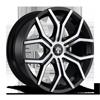 6 LUG ROYALTY - S209 22X9.5 | GLOSS BLACK & MACHINED W/ DARK TINT