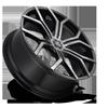 6 LUG ROYALTY - S209 GLOSS BLACK & MACHINED W/ DARK TINT