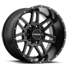 8 LUG 931M INJECTOR 20X12 SATIN BLACK - 20X12
