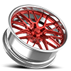 5 LUG GRID EXL S.CONCAVE RED AND POLISHED
