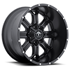 8 LUG 535 SATIN BLACK WITH MILLED ACCENTS - 22X12