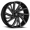 6 LUG 546 GLOSS BLACK WITH MIRROR MACHINED SPOKE TIPS