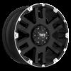 6 LUG T-04 FLAT BLACK W/ MACHINED FLANGE