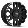 5 LUG T-04 FLAT BLACK W/ MACHINED FLANGE