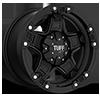 6 LUG T-10 FLAT BLACK W/ CHROME ACCENTS