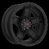 5 LUG T-10 FLAT BLACK W/ RED ACCENTS